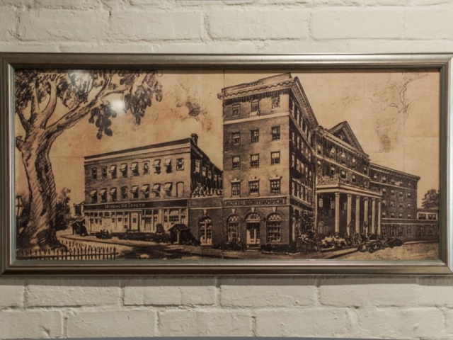 Hotel Northampton vintage drawing