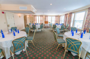 northampton room overview, round tables