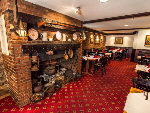 Wiggins Tavern overview with fireplace