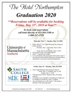 Graduation 2020: Reservations starting Friday May, 31st 2019