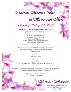 Mother's Day To-Go Menu