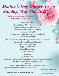 Mother's Day Dinner To-go ~ Sunday, May 9th, 2021